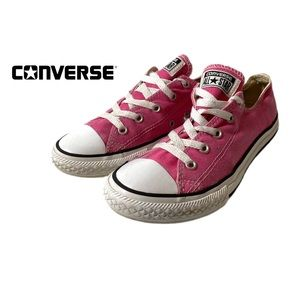 Converse Pink Canvas Youth Low Top Sneakers